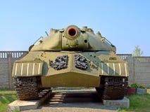 军事坦克IS-3 (约瑟夫・斯大林)被采取的特写镜头 免版税库存图片