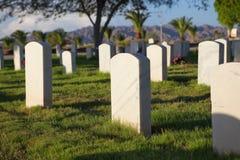 军事墓地 免版税库存照片