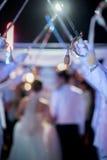 军事婚礼 免版税库存照片