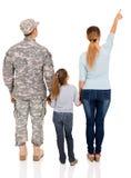 军事家庭指向 免版税库存图片