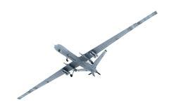 军事寄生虫在天空中 免版税库存照片