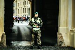 军事或警察在北京,中国巡逻 免版税库存照片
