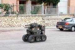 军事或警察未爆弹处理机器人 免版税库存照片