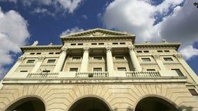 军事政府的大厦 巴塞罗那卡塔龙尼亚西班牙 股票视频