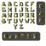 军事样式字体 库存例证