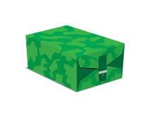 军事样式箱子传染媒介例证 免版税库存照片