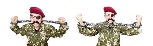 军事概念的滑稽的战士 库存照片