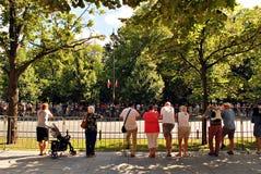 军事游行在华沙 免版税图库摄影