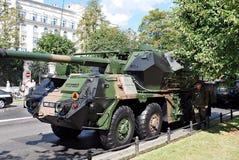 军事游行在华沙 库存图片