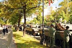 军事游行在华沙 图库摄影