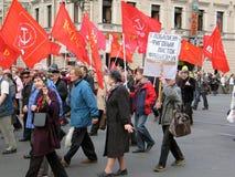 军事游行在圣彼德堡,俄罗斯 库存照片