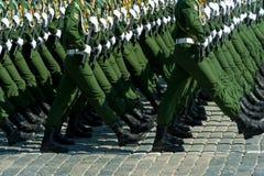 军事游行在莫斯科,俄罗斯, 2015年 免版税图库摄影