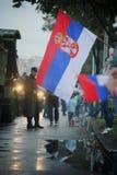 军事游行在贝尔格莱德 图库摄影
