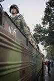 军事游行在贝尔格莱德 库存照片
