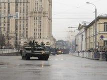 军事游行的排练 免版税库存图片
