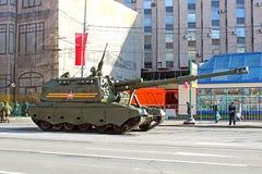 军事游行致力了在二战的胜利天在Mosc 库存图片