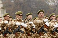 军事游行 免版税库存图片