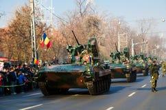 军事游行 免版税库存照片