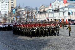 军事游行 库存照片