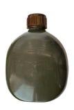 军事烧瓶绿色军队样式 库存照片