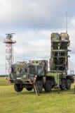军事爱国者SAM导弹系统 库存图片