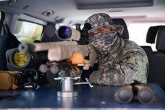 军事狙击手 免版税库存照片