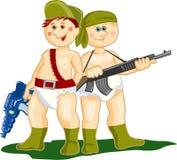 军事男孩 向量例证