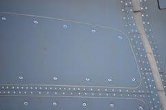 军事直升机伪装 军用飞机细节伪装 关于机体的看法与盘区线和梯度颜色 免版税图库摄影