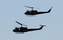 军事直升机 免版税库存图片