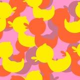 军事纹理橡胶鸭子 传染媒介背景伪装 免版税库存照片