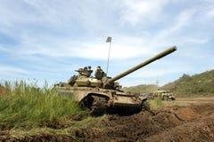 军事老坦克通信工具ww 免版税库存照片