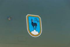 军事航空单位LTG 61 Lufttransportgeschwader外套61个航空器Transall C-160 德语空军队 免版税库存图片