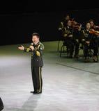 军事著名歌手Wang红卫theFamous和classicconcert 免版税图库摄影