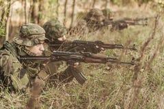 军事训练地面 库存图片
