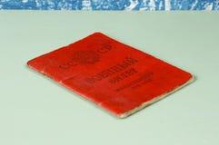 军事证明& x28; ID card& x29;俄国士兵 免版税库存图片