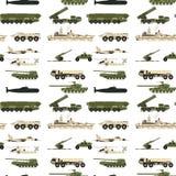 军事运输技术军队战争坦克产业技术装甲系统装甲的人员伪装无缝的样式 库存例证