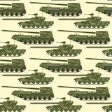 军事运输技术军队战争坦克产业技术装甲系统装甲的人员伪装无缝的样式 皇族释放例证
