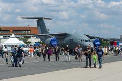 军事运输航空器安托诺夫An-178 免版税库存照片