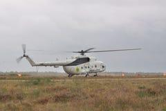 军事运输直升机Mi8 免版税图库摄影