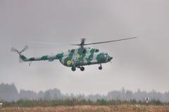 军事运输直升机Mi8 免版税库存图片
