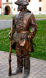 军事雕象 库存图片