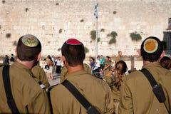 军事青年犹太复国主义者 免版税库存照片