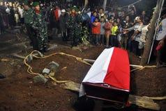 军事飞机失事在杀害135的印度尼西亚 免版税图库摄影