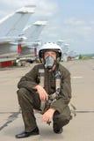 军事飞行员 库存照片
