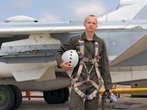 军事飞行员 图库摄影