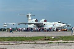 A-42军事水上飞机 图库摄影