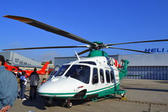 军事直升机陈列 免版税库存照片