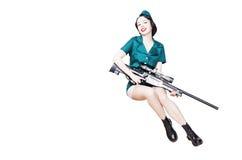 军事画报妇女 免版税图库摄影