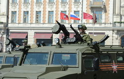 军事GAZ-2330 Tigr -俄国多用途装甲车 免版税库存照片