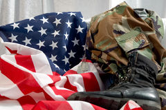 军人我们 免版税库存图片